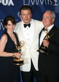 Alec Baldwin, Tina Feyi and Lorne Michaels at the 59th Annual Primetime Emmy Awards.