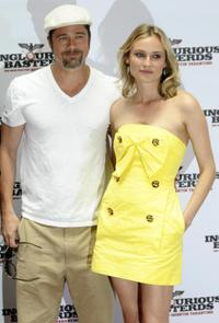 Brad Pitt and Diane Kruger at the promotion of