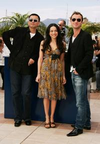 Director Wong Kar Wai, Norah Jones and Jude Law at the photocall of