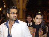 Sunil Shetty and his wife Manna at the premiere of
