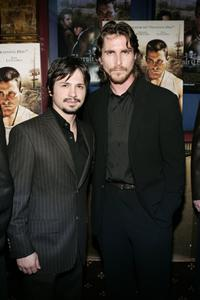 Freddy Rodriguez and Christian Bale at the premiere of