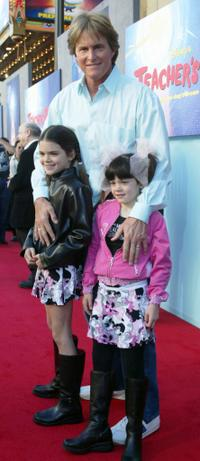 Bruce Jenner and his Daughters at the premiere of