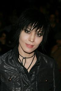 Joan Jett at the Betsey Johnson Fall 2007 fashion show during the Mercedes-Benz Fashion Week.
