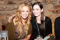 Caity Lotz and Haley Hudson during the night 1 of Chefdance in Utah.