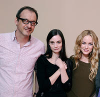 Writer/director Nicholas McCarthy, Haley Hudson and Caity Lotz at the portrait session of