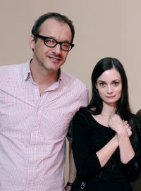 Writer/director Nicholas McCarthy and Haley Hudson at the portrait session of