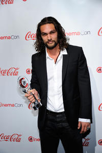 Jason Mamoa at the CinemaCon awards ceremony in Nevada.
