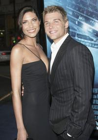 Mike Vogel and Guest at the premiere of