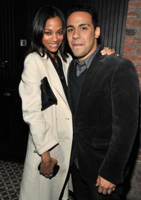 Zoe Saldana and Victor Rasuk at the after party of the screening of