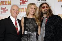 Malcolm McDowell, Sheri Moon Zombie and Director Rob Zombie at the premiere of