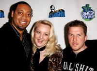 Cedric Yarbrough, Wendi McClendon-Covey and Nick Swardson at the Comedy Central's