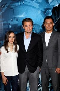 Ellen Page, Leonardo DiCaprio and Ken Watanabe at the photocall of