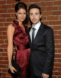 Amanda Crew and Josh Zuckerman at the after party of the premiere of