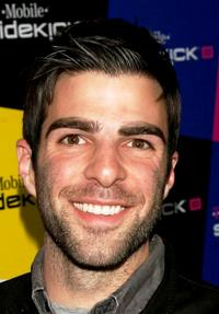Zachary Quinto at the T-Mobile Sidekick iD launch party.