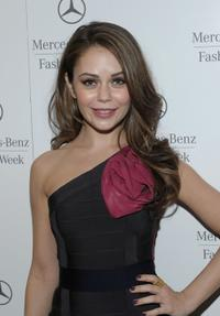 Alexis Dziena at the Mercedes-Benz Fashion Week Fall 2010.