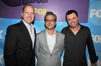 Mike Henry, Rich Appel and Seth MacFarlane at the premiere party of