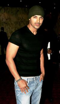 John Abraham at the world premiere of
