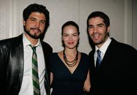 Alejandro Monteverde, Tammy Blanchard and Eduardo Verastegu at the after party of