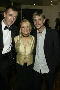 Ralph Ineson, Lucy Davis and Mackenzie Crook at the British Comedy Awards 2002.