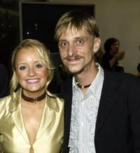 Lucy Davis and Mackenzie Crook at the British Comedy Awards 2002.