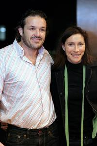 Jeremy Sparkes and Claudia Karvan at the opening night of