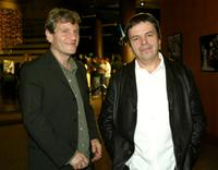 Tcheky Karyo and Neil Jordan at the premiere of