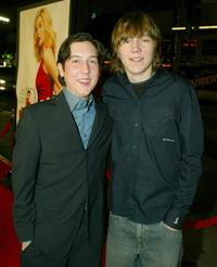Paul Dano and Chris Marquette at the premiere of