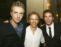 Dax Shepard, Greg Coolidge and Dane Cook at the afterparty premiere of