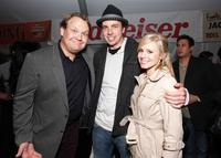 Andy Richter, Dax Shepard and Kristen Bell at the after party of the premiere of