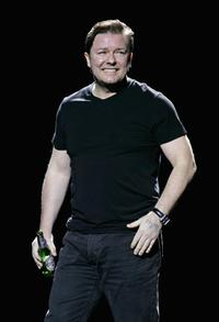 Ricky Gervais at the events in aid of Teenage Cancer Trust.