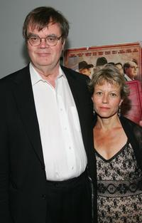 Garrison Keillor and his wife at the premiere of