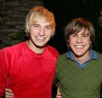 Ryan Hansen and Chris Lowell at the Church of Scientology's Christmas Stories XIV.