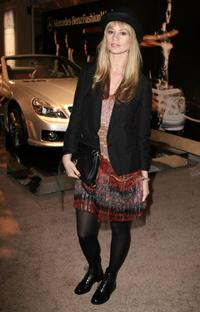 Cameron Richardson at the Mercedes-Benz Fashion Week.