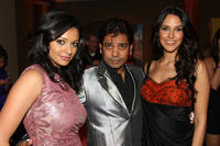 Pooja Kumar, choreographer Longinus Fernandes and Neha Dhupia at the after party of the New York premiere of