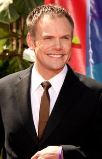 Joel McHale at the 58th Annual Primetime Emmy Awards.