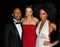Pharrell Williams, Katharina Harf and Solange Knowles at the DKMS' 5th Annual Gala in New York.