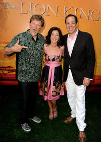 Roger Allers, Moira Kelly and Rob Minkoff at the premiere of