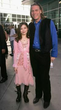 Miranda Cosgrove and Raja Gosnell at the premiere of