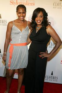 Terri J. Vaughn and Niecy Nash at the Life & Style Magazine's Stylemakers 2005, a runway show and charity auction.