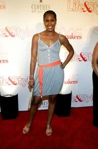 Terri J. Vaughn at the Life & Style Magazine's Stylemakers 2005, a runway show and charity auction.