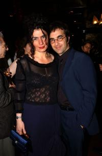 Arsinee Khanjian and Atom Egoyan at the 55th Cannes Film Festival.