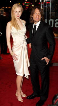 Actress Nicole Kidman and musician Keith Urban at the London premiere of
