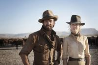 Hugh Jackman as The Drover and Nicole Kidman as Sarah in