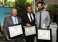 Gareth Unwin, Iain Canning and Emile Sherman at the Eleventh Annual AFI Awards presentation.
