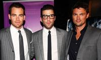 Chris Pine, Zachary Quinto and Karl Urban at the premiere of