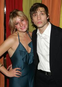 Ari Graynor and Logan Marshall Green at the after party of the New York opening night of