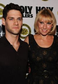 Justin Bartha and Ari Graynor at the New York premiere of