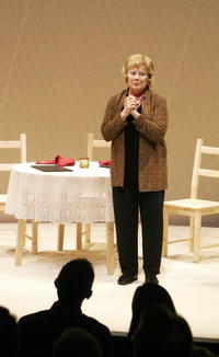 Shirley Knight at the opening night of