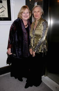 Shirley Knight and Cloris Leachman at the cocktail party at Salvatore Ferragamo boutique during the 2nd Rome Film Festival.