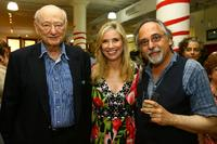 Ed Koch, Nancy Bass Wyden and Art Spidgelman at the Publisher Weekly's celebration party.